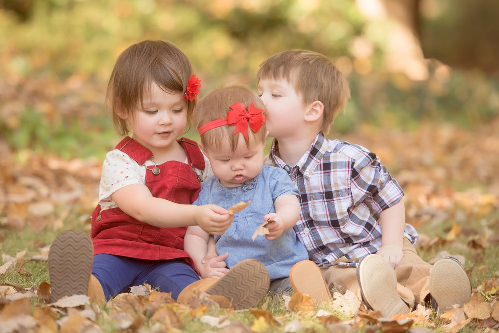 sibling love in leaves