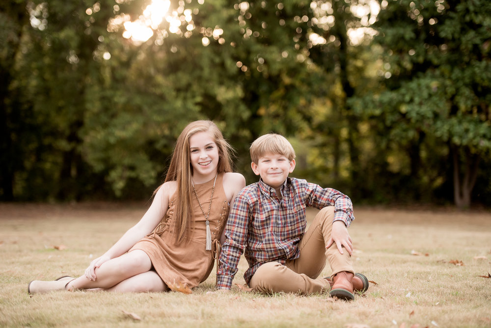 sibling fall photo tuscaloosa