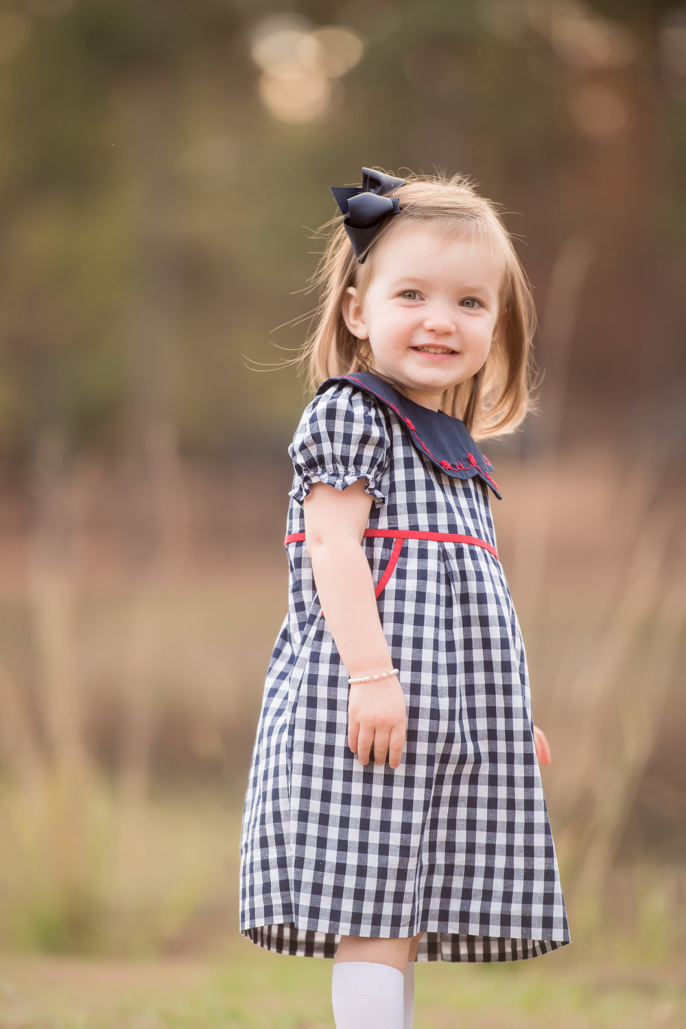 sweet little sister fall plaid dress