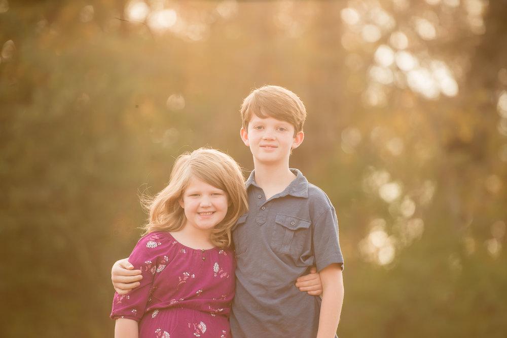 elementary age siblings