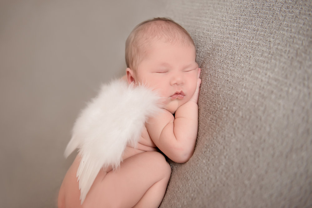 newborn girl angel wings
