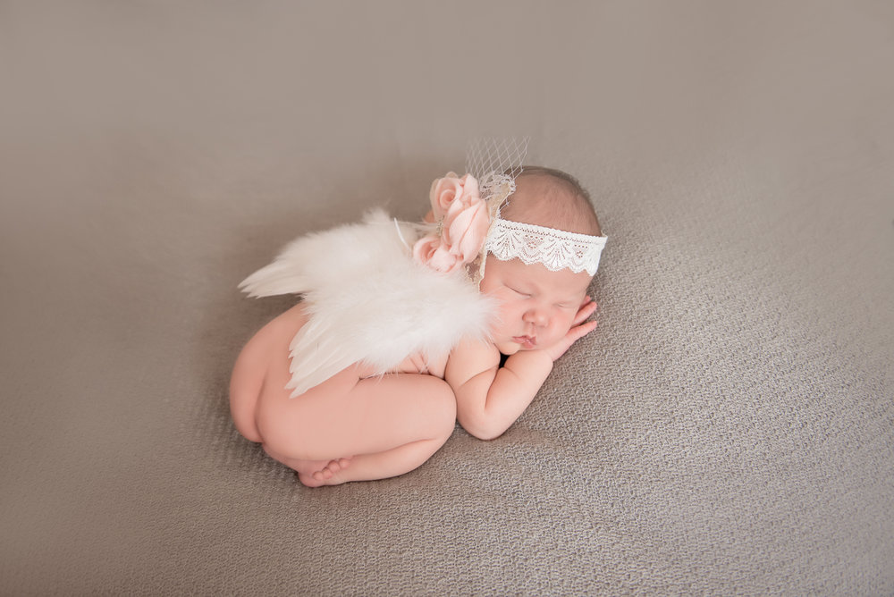 newborn angel wings and headband
