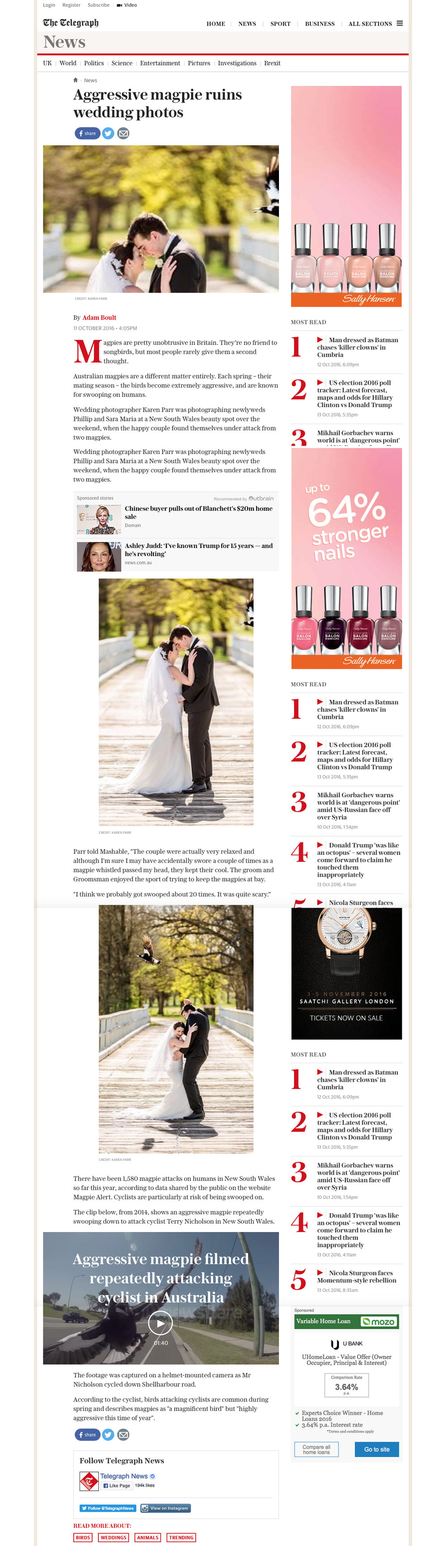 The Telegraph UK Wedding Photography