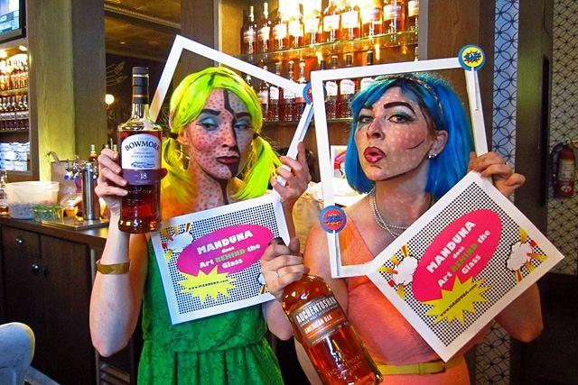 MandUna (aka Una Green and Mandolyn McIntyre) looked stunning behind the bar for Team Auchentoshan. | Photo by Daniel Djang