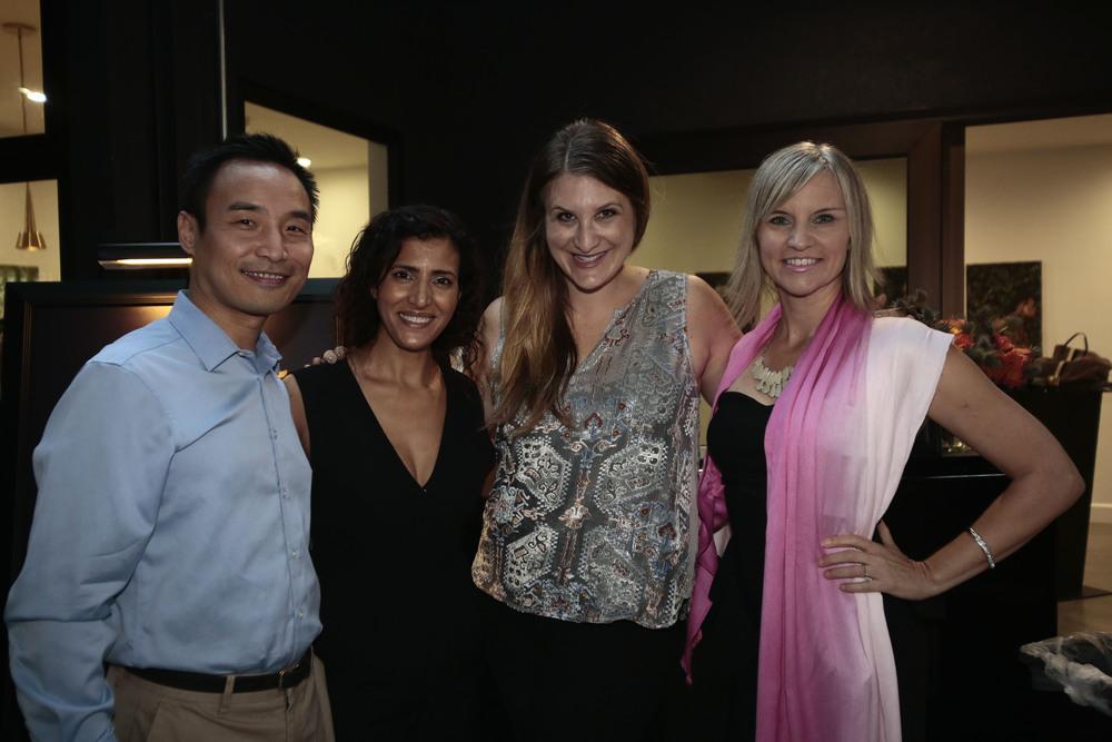 L to R: Daniel Djang, Zahra Bates, Jill Smayo and Tricia Carr | Photo courtesy of Courvoisier
