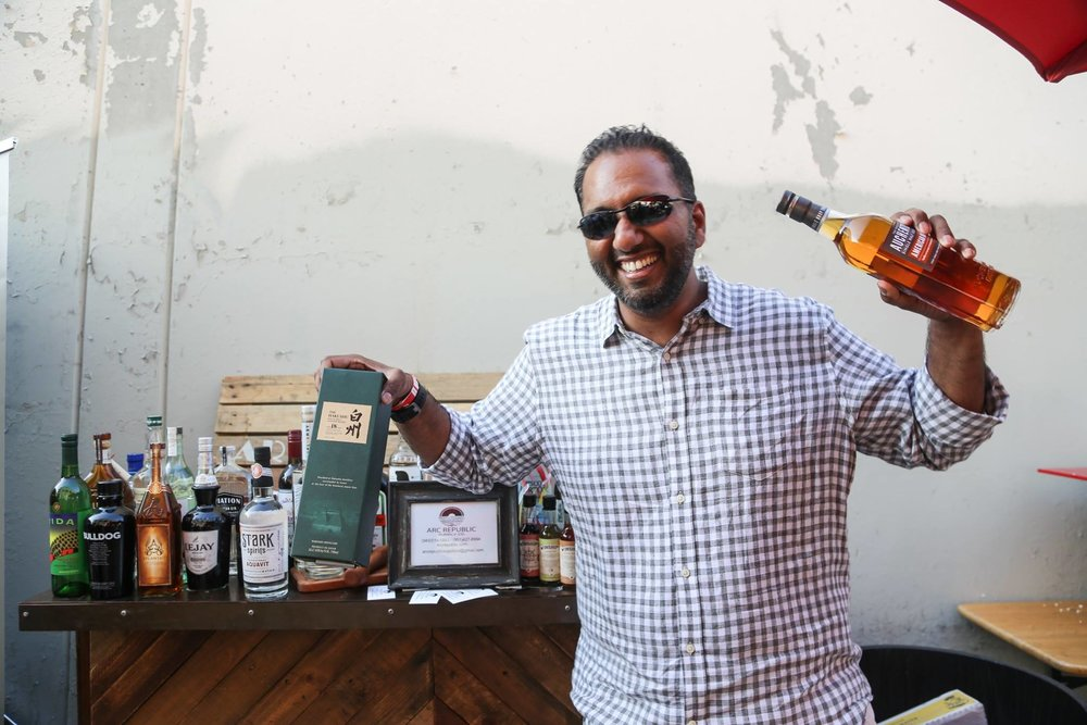 Congrats to Nishant Narayan, who won the Instant Home Bar raffle! | Photo by Eugene Lee