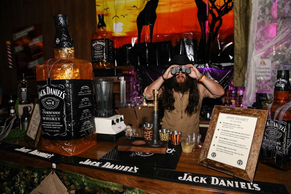 The safari-themed Jack Daniel's bar at ABTG VI | Photo by Eugene Lee