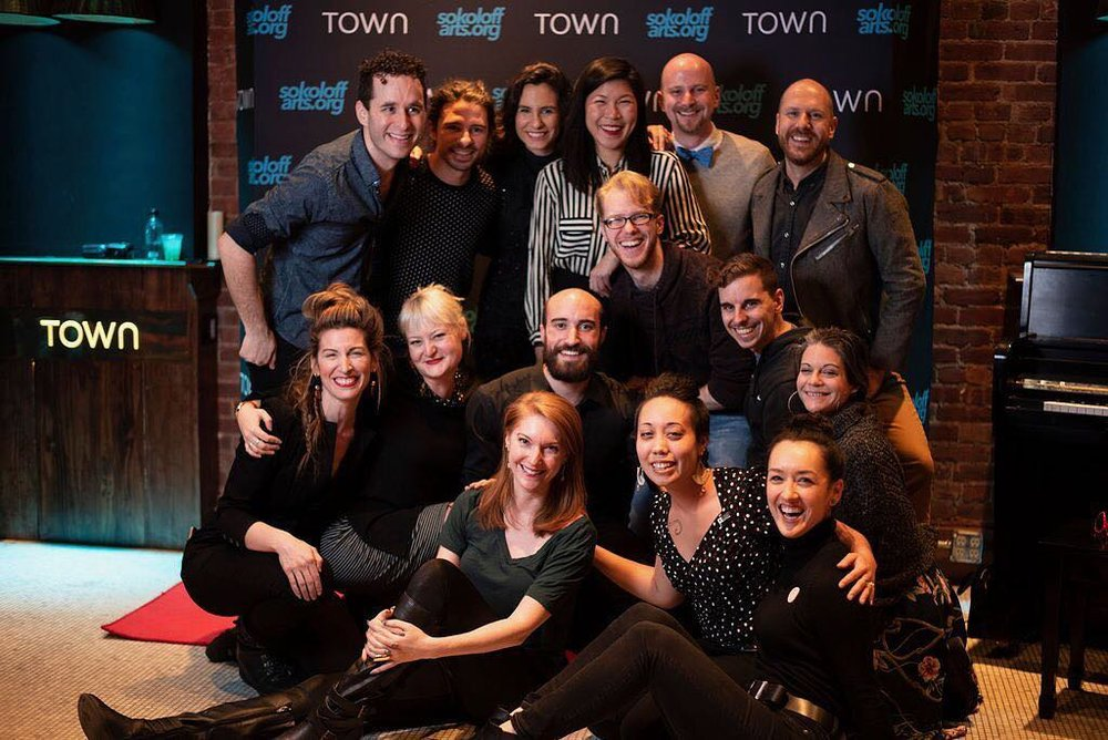 Sokoloff Arts 2019 Fellows and the Town Stages crew at the inaugural ABTG NYC