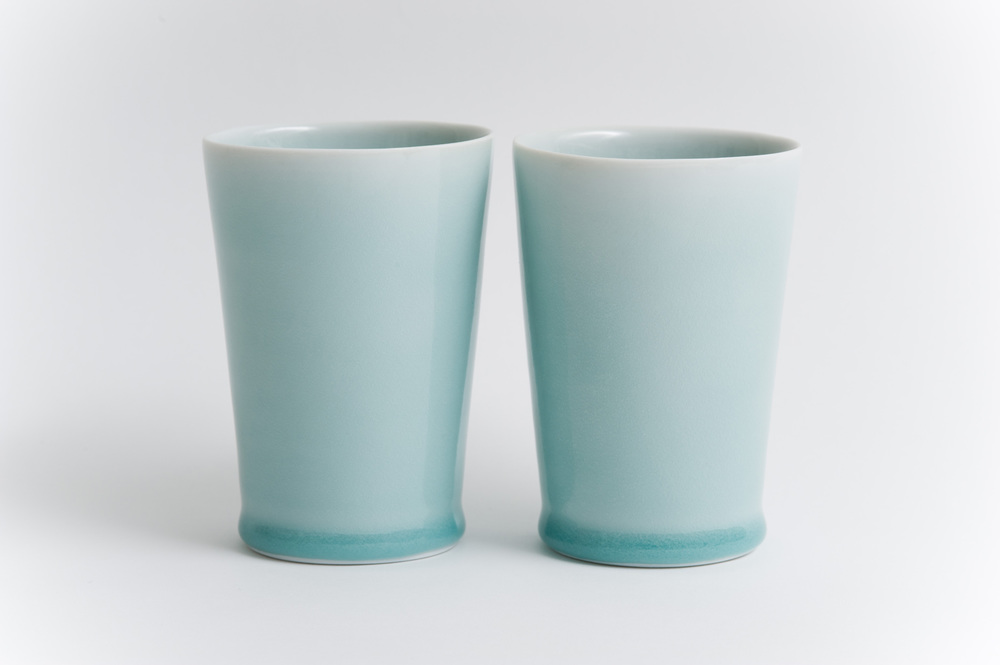 3. Two Celadon Cups 2012.jpg
