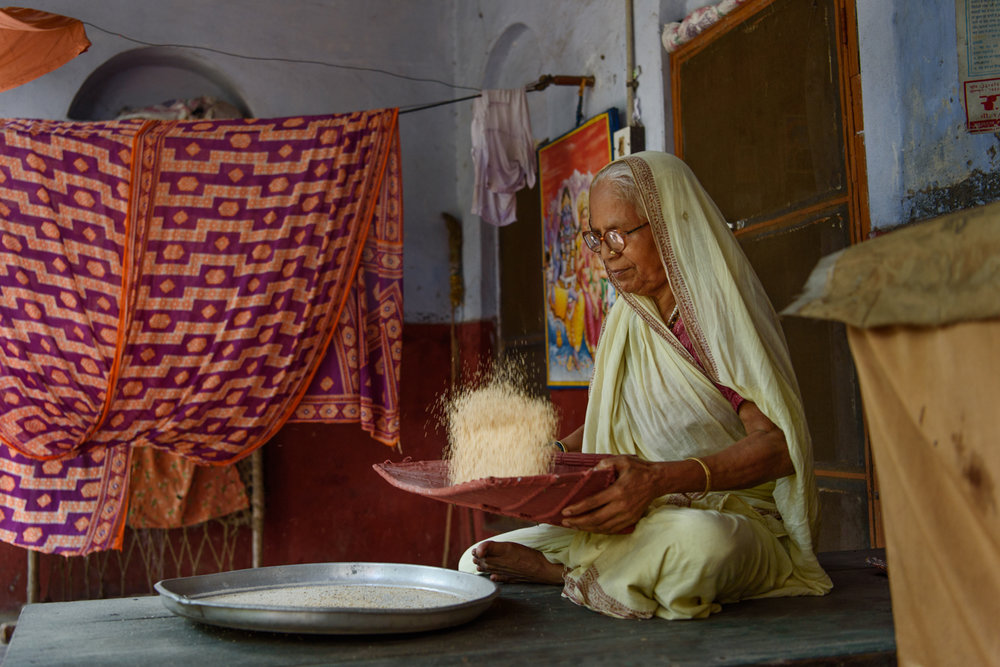 Kalawati Vishukarna, 70, has been a resident  of the Mumukshu Bhawan since 2007.