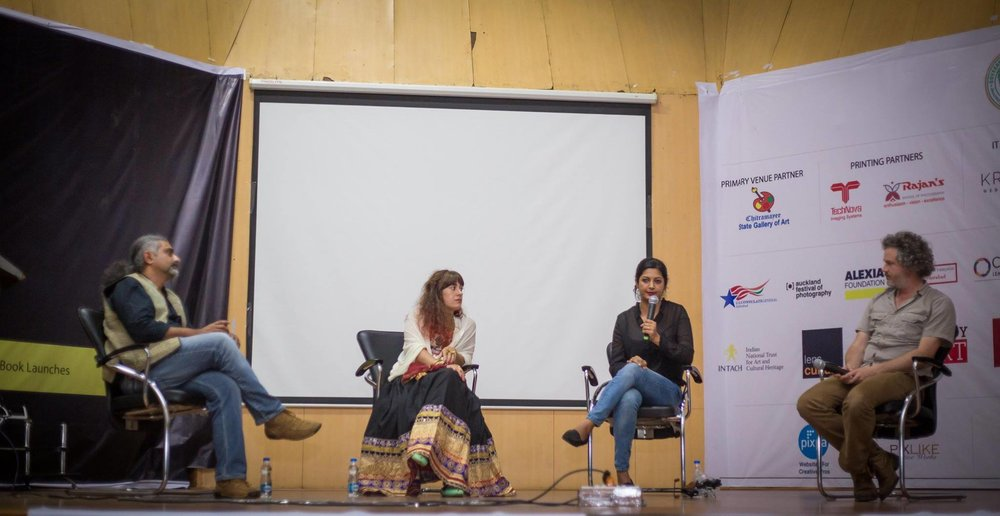 "Panel Discussion on ""Long term projects"" - Indian Photo Festival, Hyderabad, India, 2016."