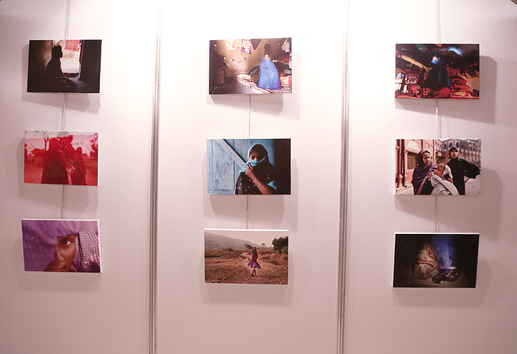 """Not My Shame"" - Solo exhibition as part of the TEDx Conference held at Yanbu City, Saudi Arabia, 2015."