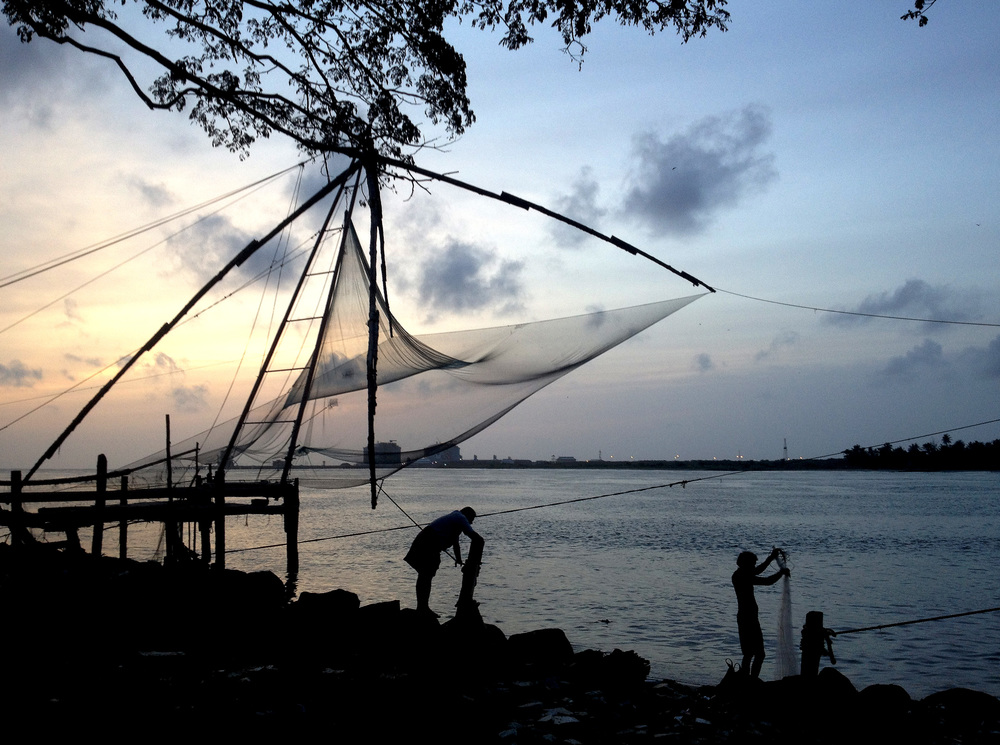 Fishermen in Kerala, India