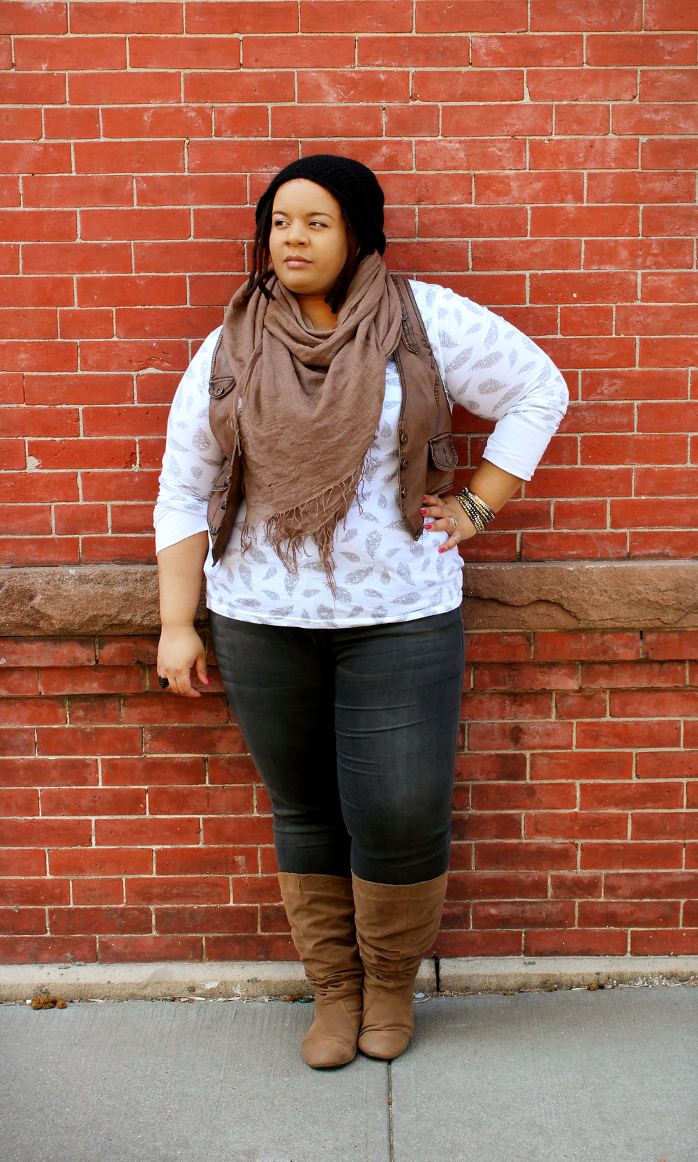 Plus Size Grey Jeans