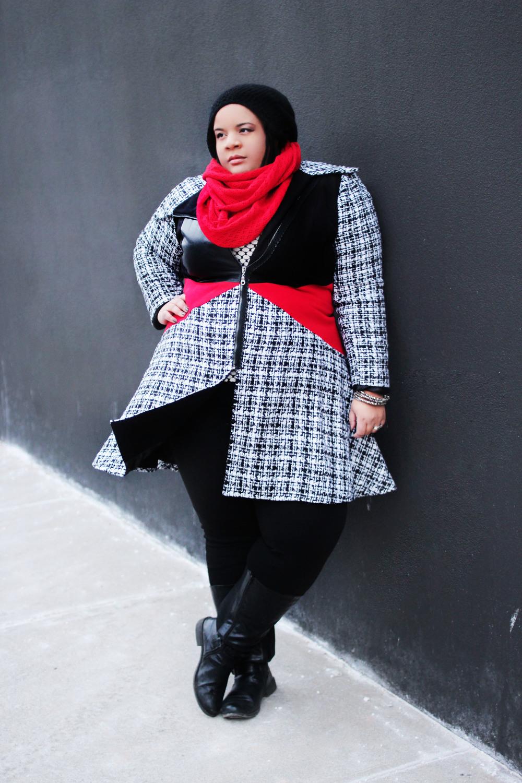 Teyxo plus size coat