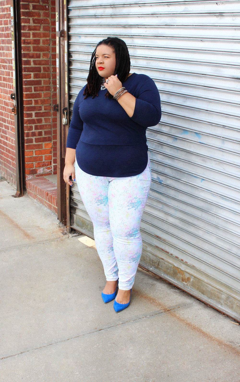 forever21 plus white jeans