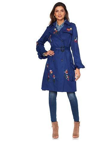 navy floral trench hsn.JPG