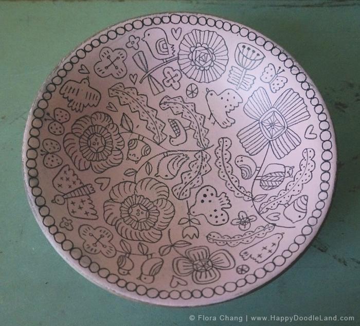 ©Flora Chang_Wooden Doodle Bowl_Happy Doodle Land.jpg
