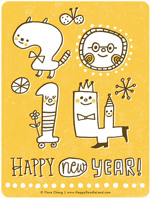 FloraChang_HappyDoodleLand_Happy2014.jpg