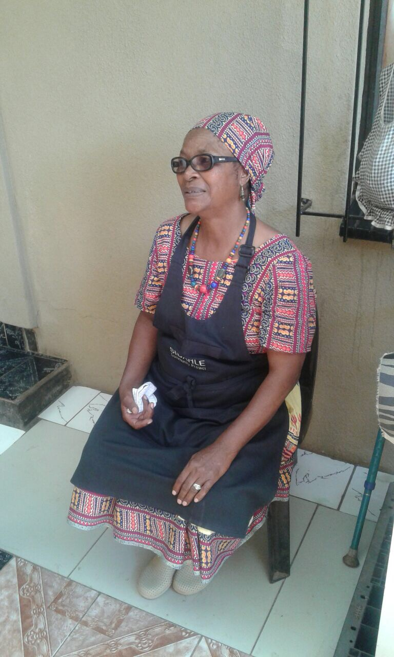 Mam Linda  - Meet the charismatic and wonderful head chef and Mama of Sibahle. Linda came to Sibahle by way of serendipity. I was doing my internship at Tladi clinic and felt propelled to start a feeding scheme to enable patients to take their medicines on a full stomach. While dreaming up how to action my idea one morning, Linda arrived in my consulting room with aches and pains. Animated and chatty, she told me she needed something fulfilling to keep her hands busy, that will surely stave off any untoward joint pain! And Voila, that was the beginning! In order to pay Sibahle's bills and keep the home fires burning, Linda is now offering intimate traditional beer making workshops and cooking demonstrations in the bosom of her home in the township of Tladi. This is an amazing thing to do for an end of year work function, team building and certainly as a tourist in Johannesburg. Please call us on 082 560 5680 or 0604296735 to book your experience. We cant wait to meet you and show you a special corner of Soweto!