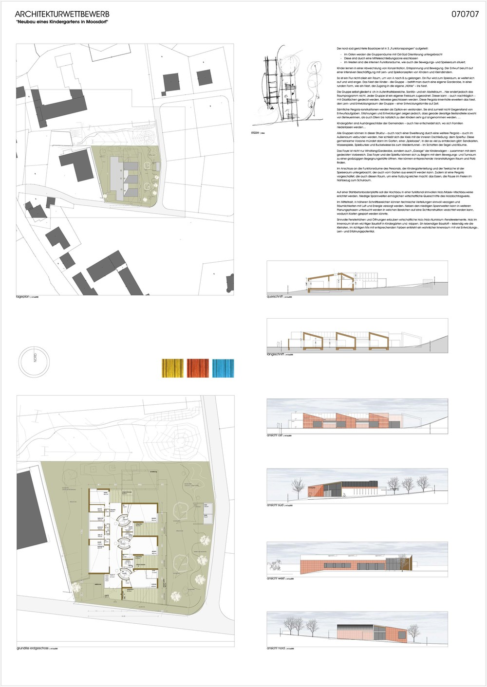 wettbewerb neubau kindergarten moosdorf 2 preis arch. Black Bedroom Furniture Sets. Home Design Ideas