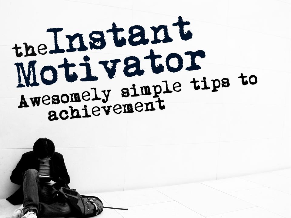 Instant Motivator handout zdarma ke stažení (pouze do pondělí) - materiál o tom, jak využít vaši vůli při plnění cílů
