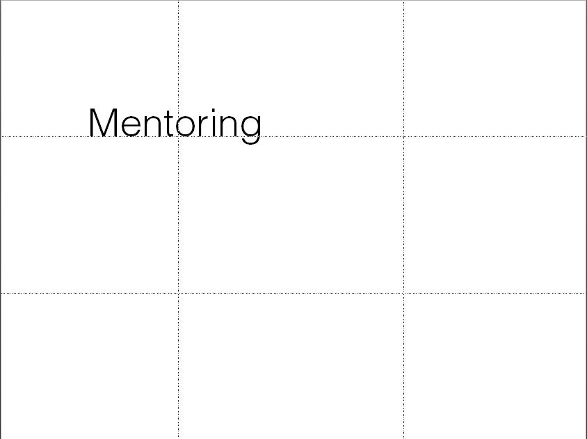 Na lepší slajdy pomocí mřížky, hezkého fontu a prázdného rozložení