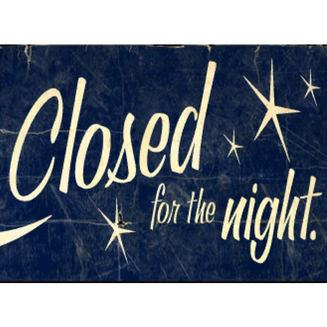 Alameda will be closed Thursday night. We will reopen tomorrow at 5pm. See you then!