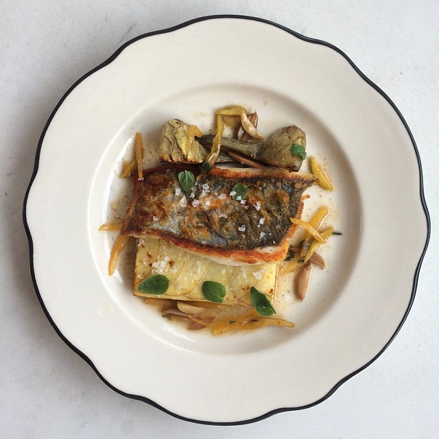 Really excited to be serving some local John Dory on our prix fixe tonight! Serving it with a potato gratin & artichokes, and a brown butter sauce with preserved lemon, olives, & almonds. #prixfixe #greenpoint #johndory