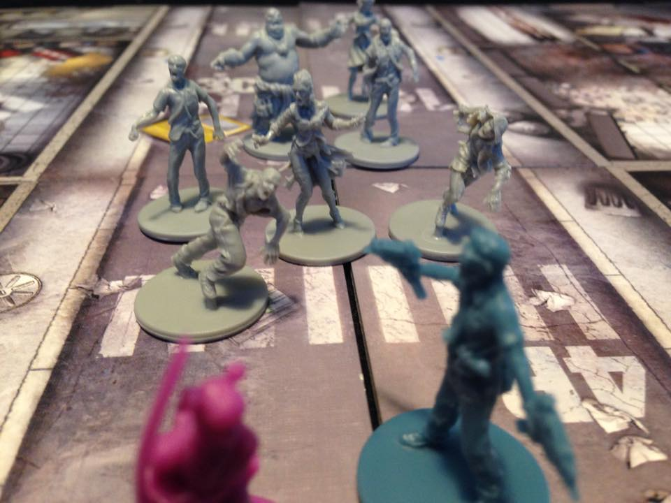Megan is shown here defeating zombie hordes.