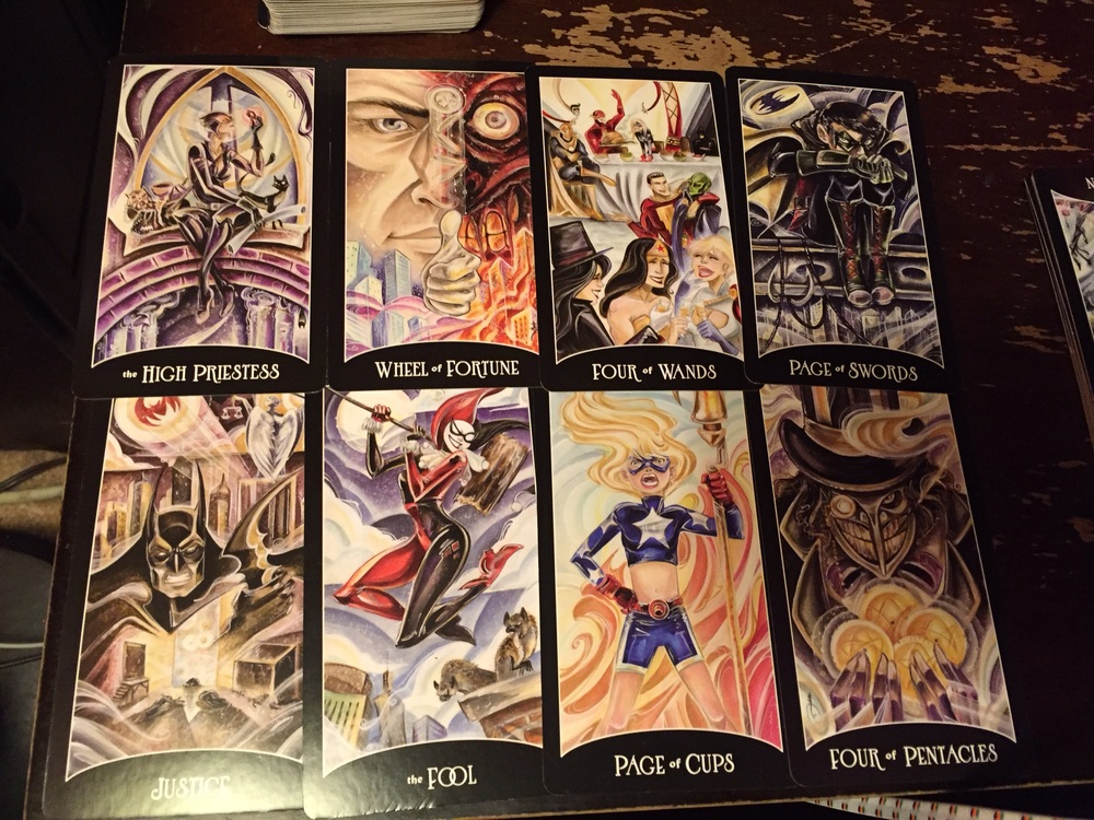 Batman wasn't the hero the tarot deck deserves, but not the one....well, that doesn't work here, does it....