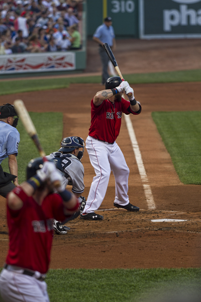 Jonny Gomes (with Saltalamacchia in the foreground)