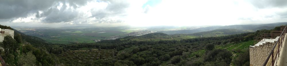 The Megiddo valley as seen from Mt. Carmel.