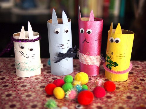 Crafted Easter Bunny Family