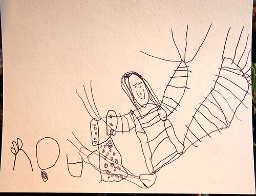 Maisy's Card to Santa, plus Mo, our Elf on the Shelf!