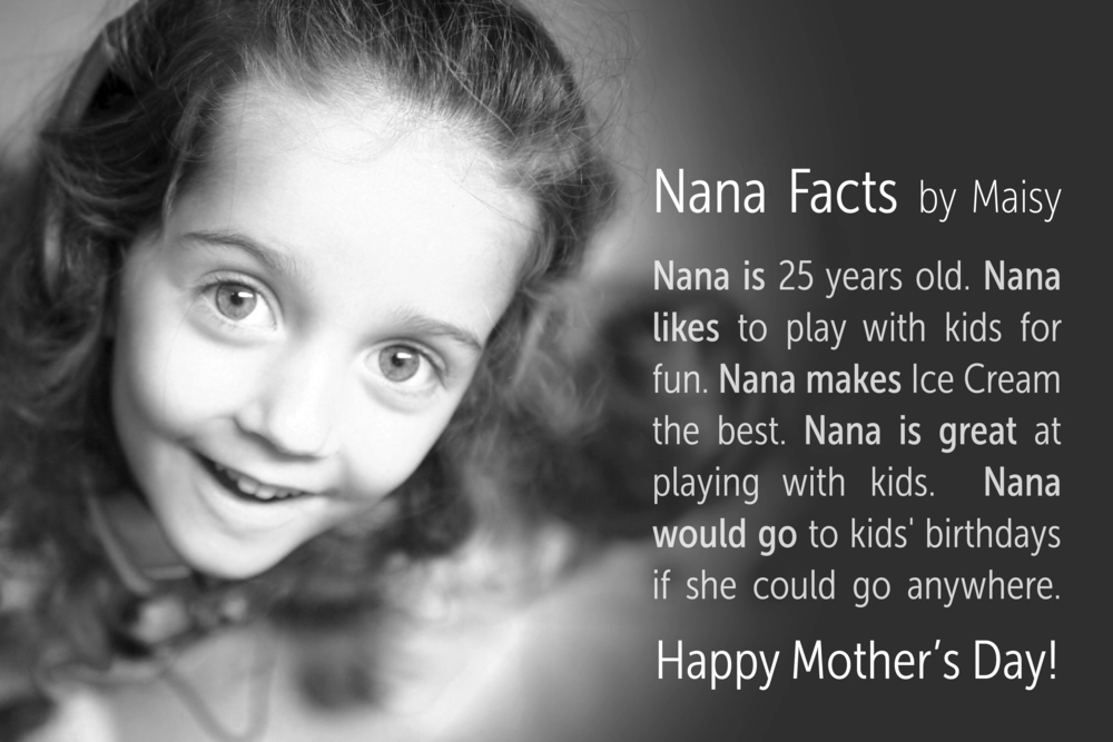 Maisy's Card for Nana.