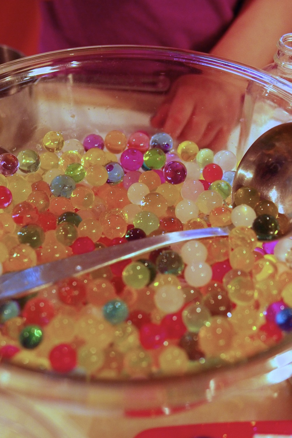 Multi-color water beads.