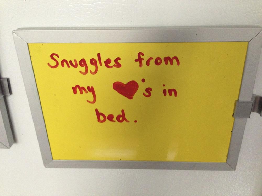 Snuggles make me happy.