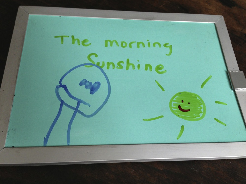 The morning sunshine makes me happy too.