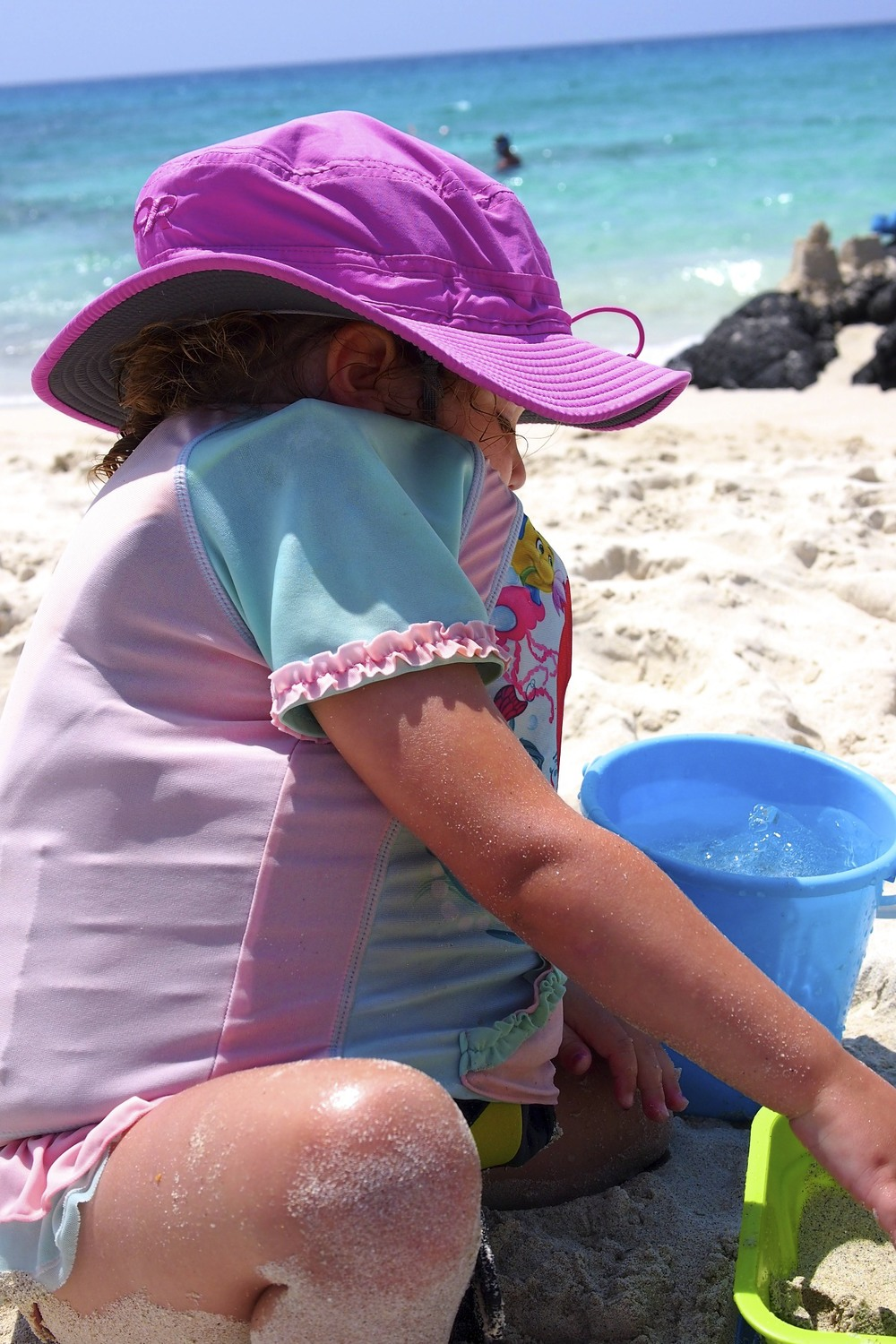 Meanwhile, Maren looked like this. Can you find her in there in between her life vest, sun shirt and hat?