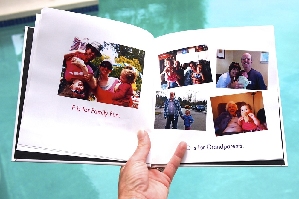 F is for Family Fun and G is for Grandparents.