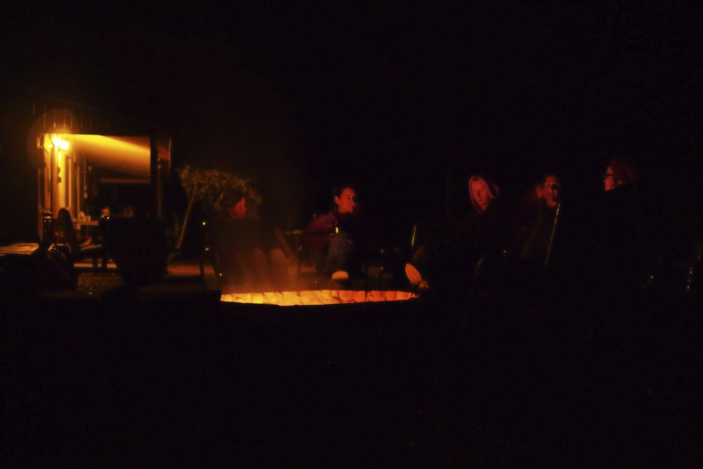 Campfire chats.