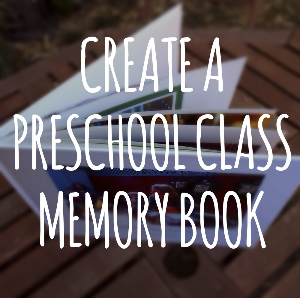 Create a thank you photo/art memory book for your preschool teacher from their class.