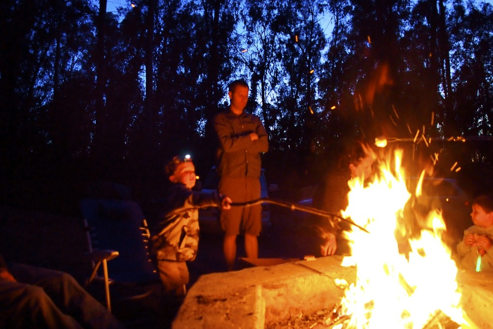Campfire fun with stories and s'mores.