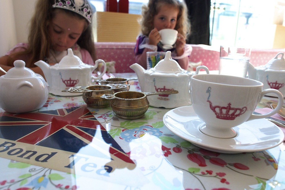 Tea time with Mommy at Crown and Crumpet (San Francisco).