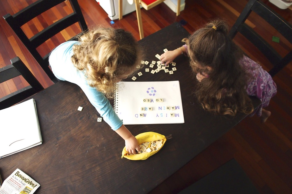 Four ways to use Bananagrams to aid in letter and word recognition.