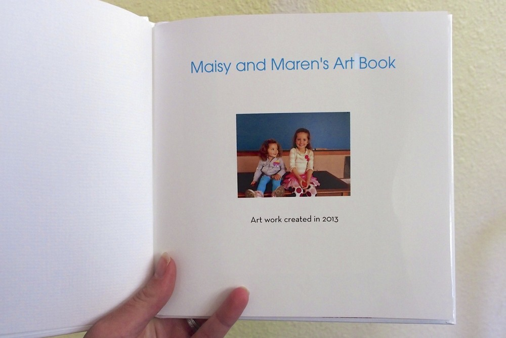 Make a child narrated art book from their creations.