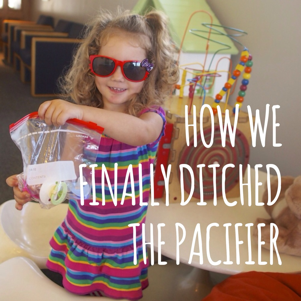 Get rid of the pacifier once and for all.
