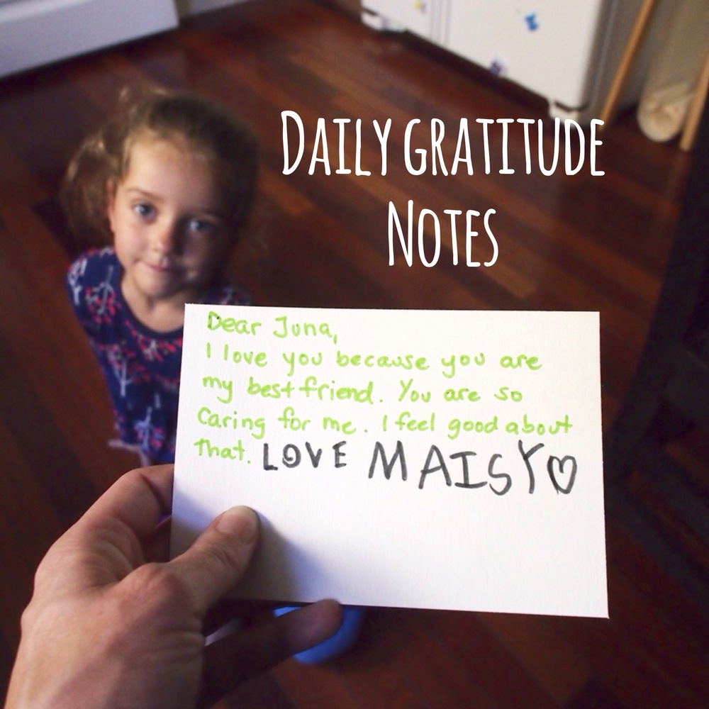 Practice Writing and Thoughtfulness Through Daily #Gratitude Notes