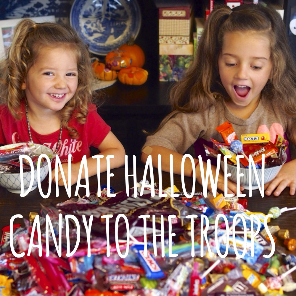 veterans day with kids donate your halloween candy to the troops - Halloween Candy Kids